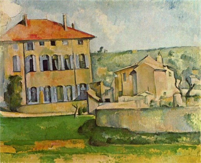 The House and Farm at Jas de bouffan by Cézanne (1887)