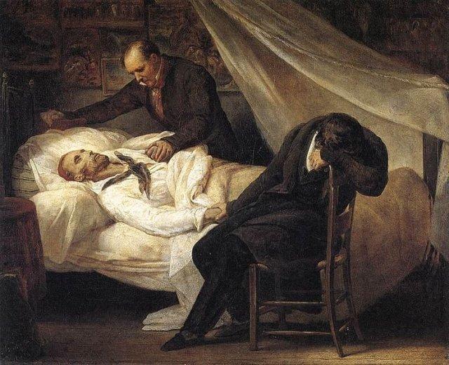 Death of Géricault by Ary Scheffer (1824)
