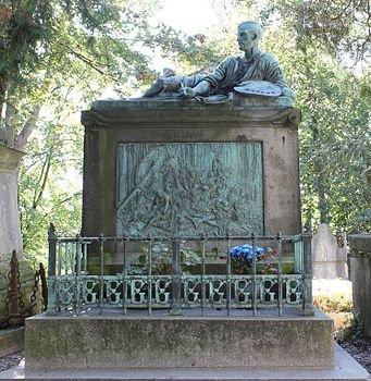 Théodore Géricault's tomb at Père-Lachaise cemetery in Paris
