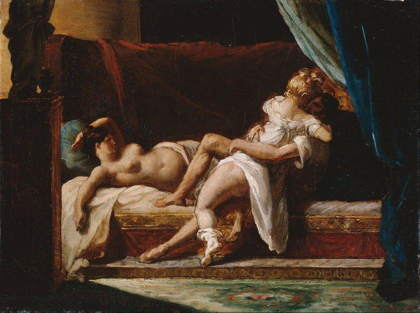 Three Lovers by Théodore Géricault (1817-20)