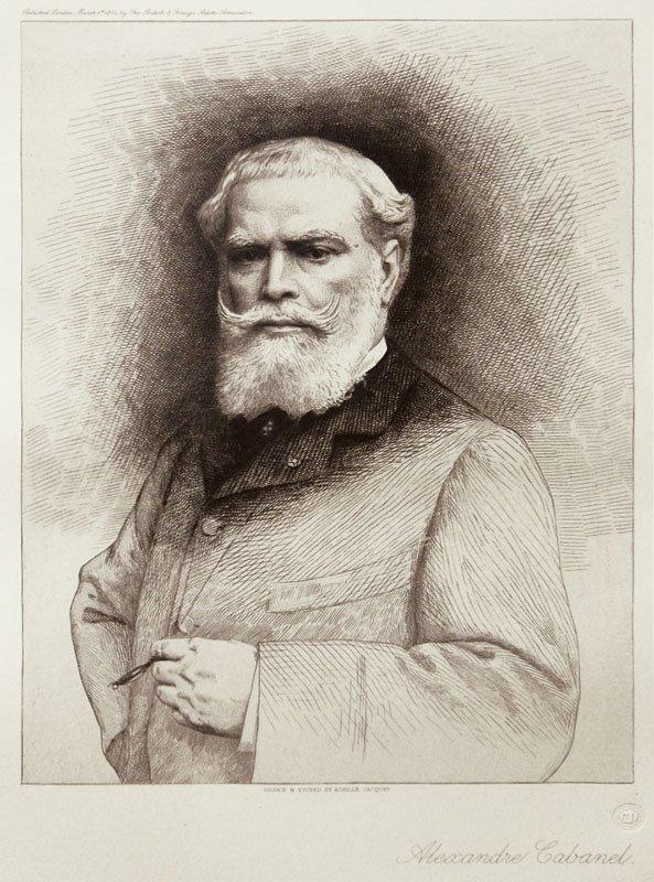 Alexandre Cabanel by Achille Jacquet (c.1883)
