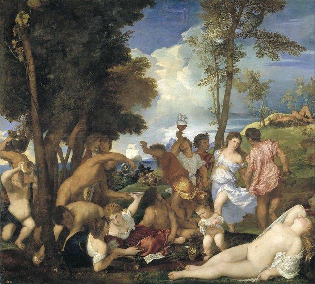 Bacanal de los andrios by Titian (c.1526)