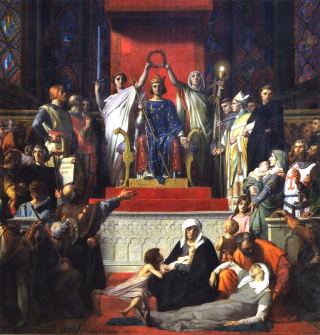 The Glorification of St. Louis by Alexandre Cabanel (c.1853-55)