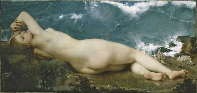 The Pearl and the Wave by Paul Baudry (1862)