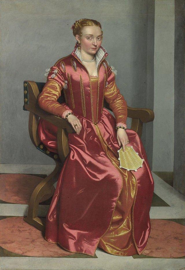 Portrait of Lucia Albani Avogadro ('La Dama in Rosso') by Giocvanni Battista Moroni (c.1555-60)