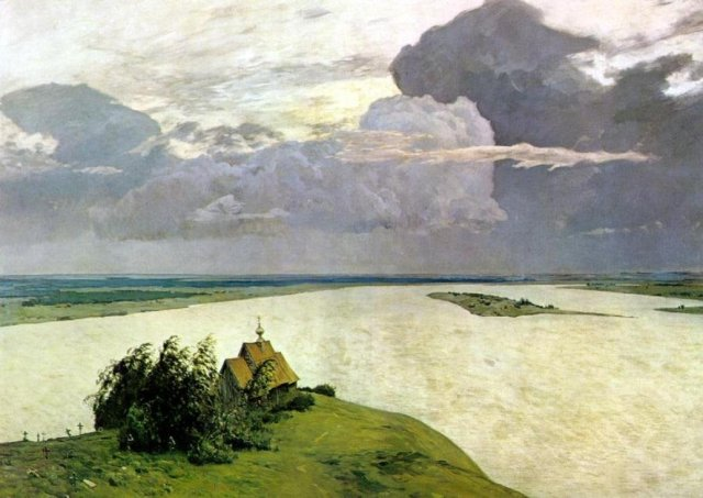 Above the Eternal Peace by Isdaac Levitan (1894)