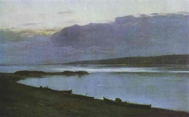 Evening on the Volga by Isaac Levitan (1888)