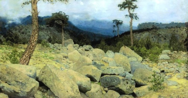 In the Crimean Mountains by Isaac Levitan (1886)