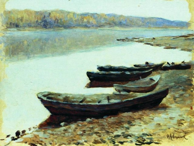 Landscape on the Volga by Isaac Levitan (1878)