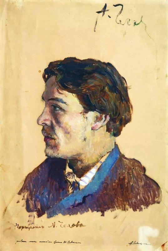 Portrait of Anton Chekhov by Isaac Levitan (1886)