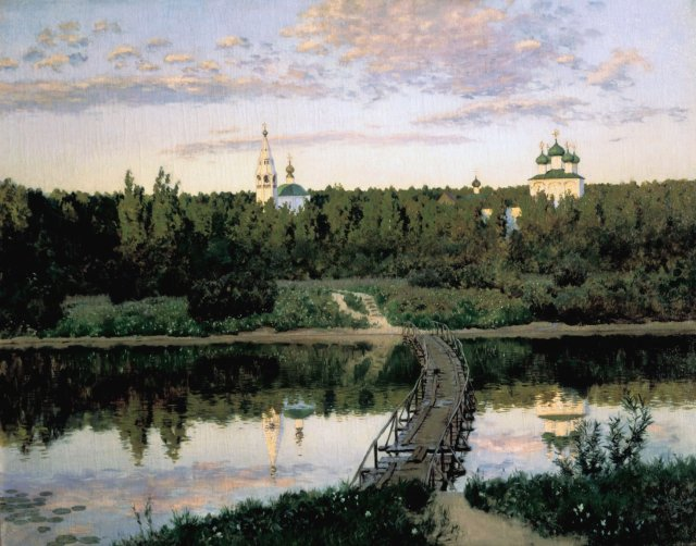 Quiet Abode, The Silent Monastery by Isaac Levitan (1890)
