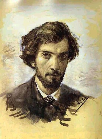 Self portrait by Isaac Levitan (1880)