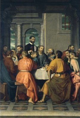 The Last Supper by Giovanni Battista Moroni (1566-9)