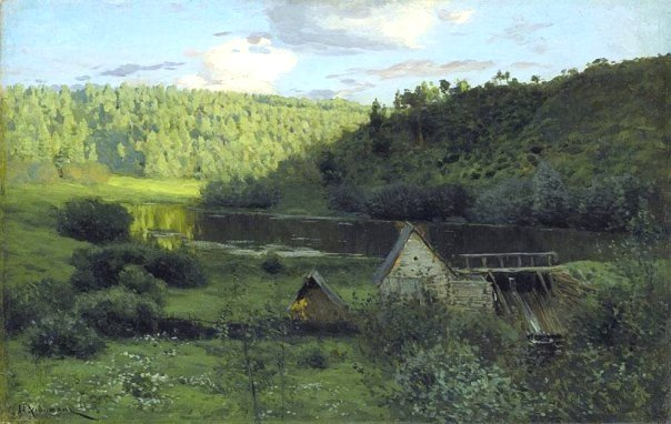 The Watermill, Sunset by Isaac Levitan (1880)