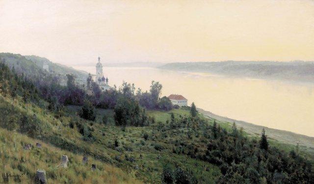 Evening: Golden Ples by Isaac Levitan (1889)