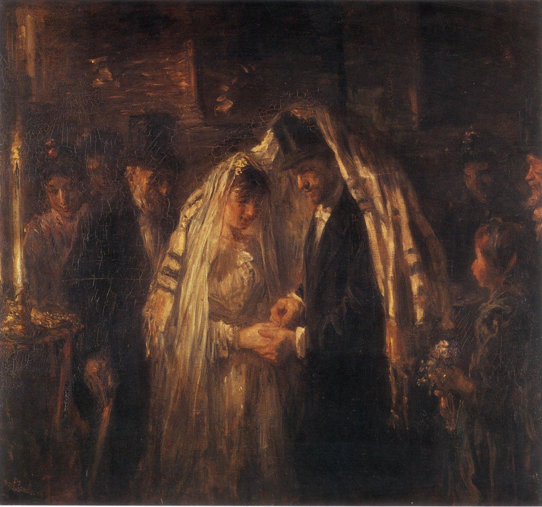 A Jewish Wedding by Jozef Israels (1903)