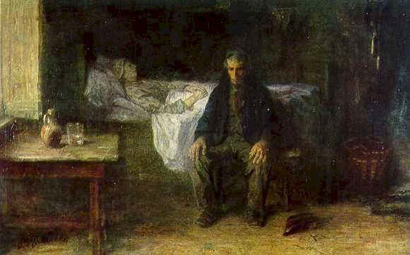 Alone in the World by Jozef Israels, (1881)