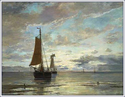 Along the Dutch Coast by Hendrik Mesdag (1882)