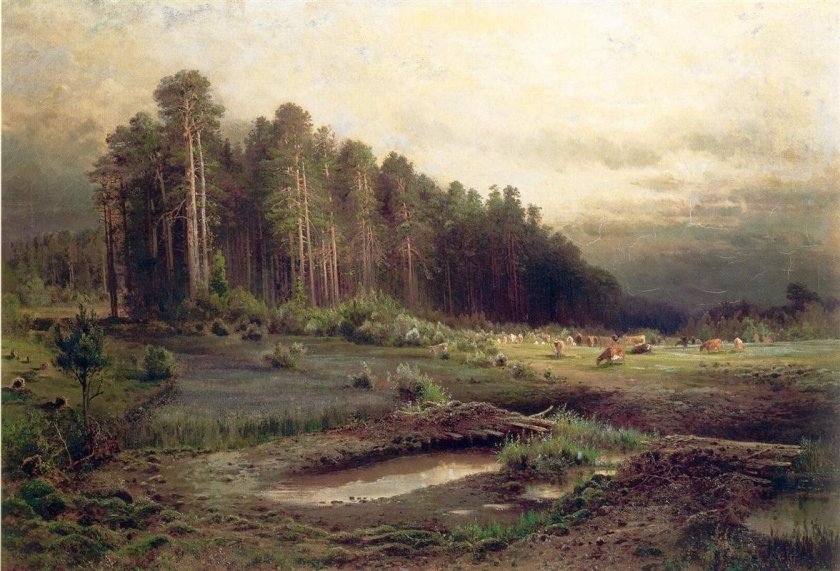Elk Island in Sokolniki by Alexi Savrasov (1869)