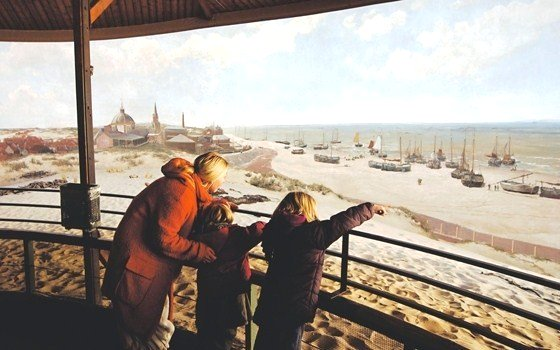 Panorama Mesdag as seen from central observation platform