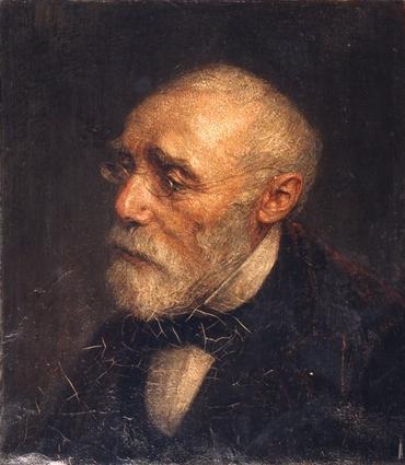 Portrait of Jozef Israels by Jan Veth (1887)