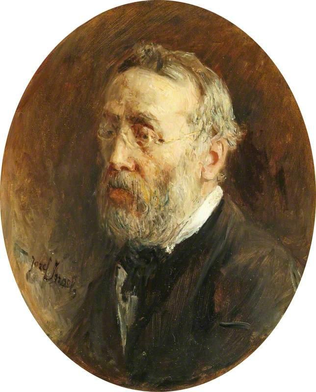 Self portrait by Jozef Israels (1881)