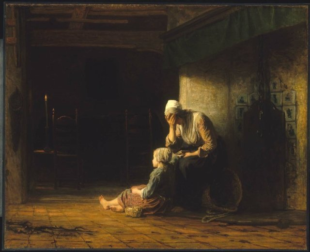 The Day Before Parting by Jozef Israels (c.1862)