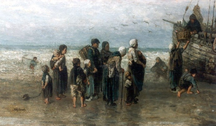 Unloading the Catch by Jozef Israels