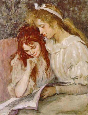 Children reading by Louise Breslau