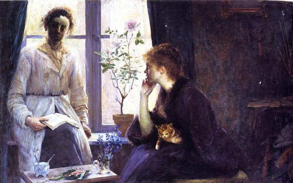Contre Jour (Louise Breslau and Madeleine Zillhardt) by Louise Breslau