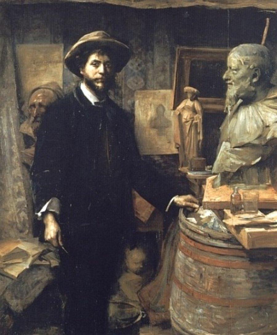 Jean Carries in his Atelier by Louise Breslau