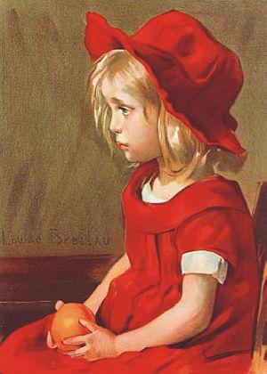 La fille à l'orange by Louise Breslau (1897)
