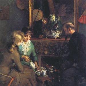 Le thé à cinq heures by Louise Breslau (1883)