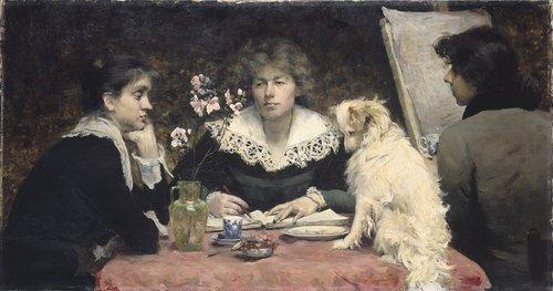 Les amies by Louise Breslau (1881)