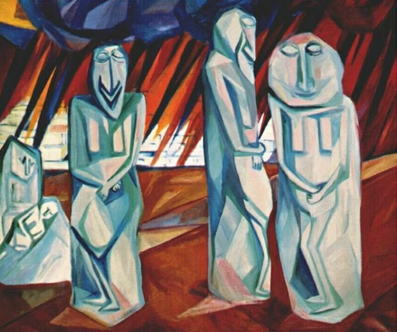 Pillars of Salt by Natalia Goncharova (1908)