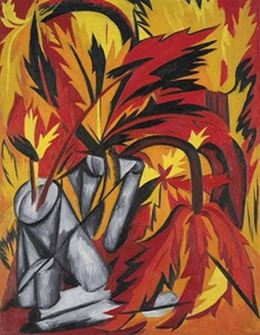 The Flowers by Natalia Goncharova (1912)