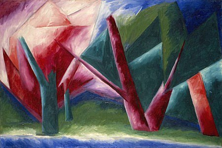 The Forest by Natalia Goncharova (c.1913)