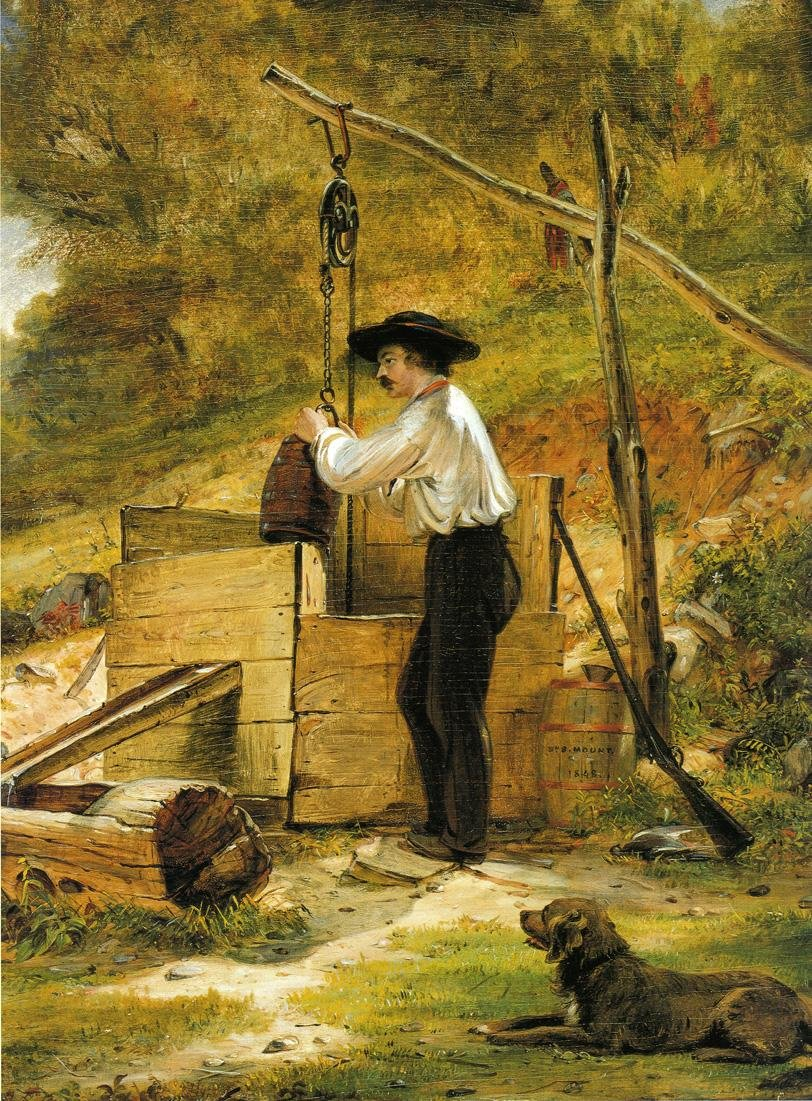 At the Well by William S Mount