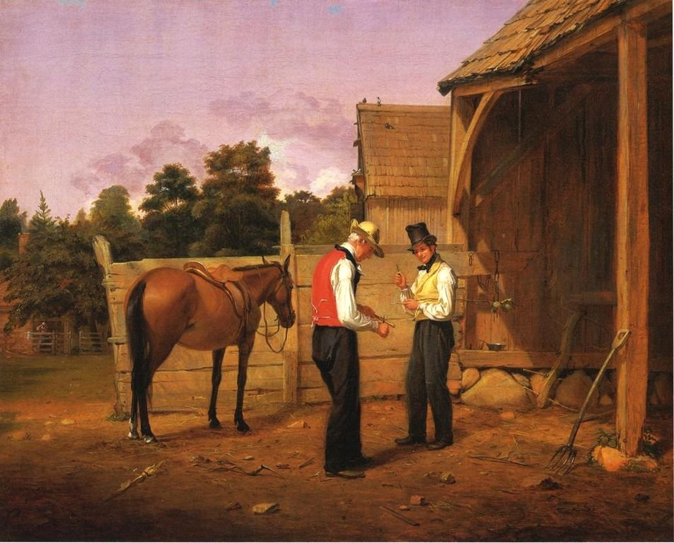 Bargaining for a Horse by William Sidney Mount (1835)