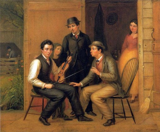 Catching the Tune by William Sidney Mount (1866)