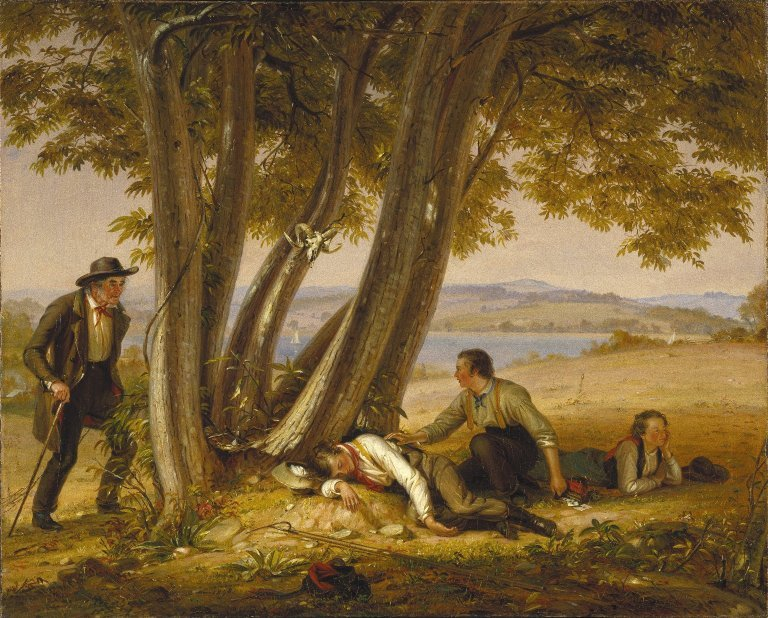 Caught Napping- (Boys Caught Napping in a Field) by William S Mount (1848)