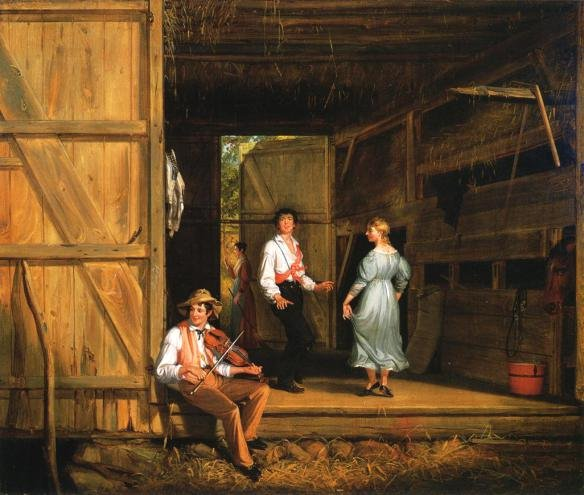 Dancing on the Barn Floor by William S Mount (1831)