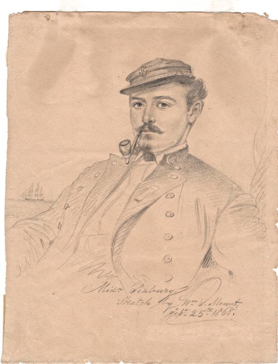 Portrait of Midshipman Seabury by William S Mount (1868)