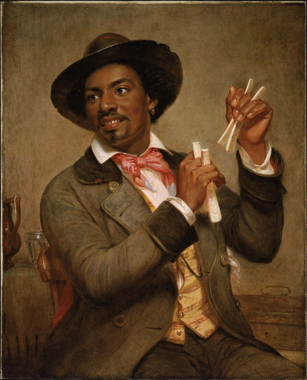 The Bone Player by William Mount (1856)