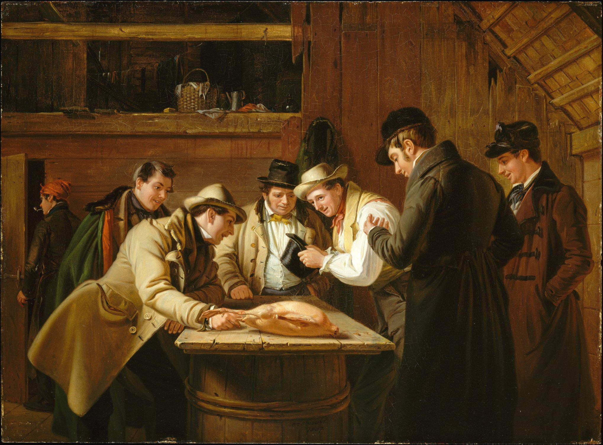 The Raffle (Raffling for the Goose) by William S Mount (1837)