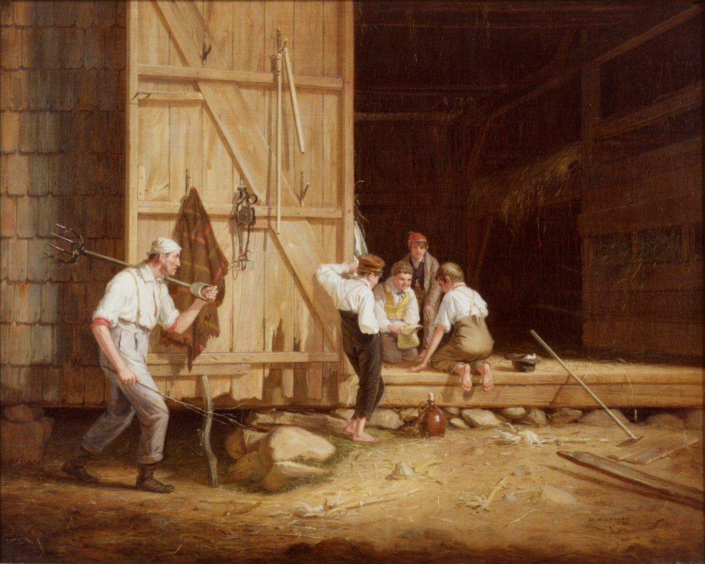 The Truant Gamblers (Undutiful Boys) by William S Mount (1835.)