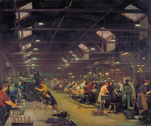 A Munitions Factory by Fred Elwell (1944)