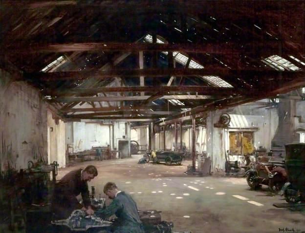 Armstrong's Garage by Fred Elwell (1921)