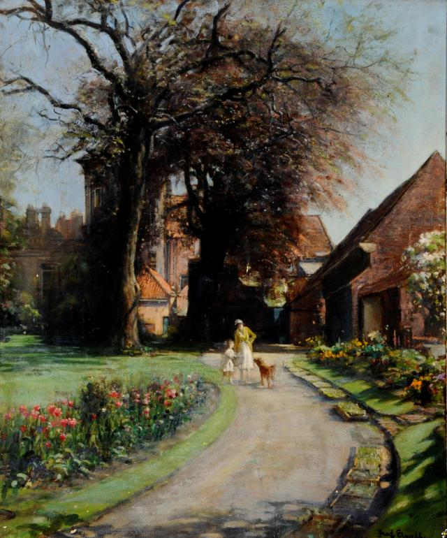 Bar House Garden, Beverley by Fred Elwell (1914)