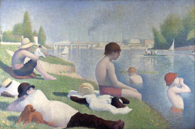 Bathers at Asnières by Georges Seurat (1884)